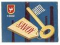 Nalepka hotelowa - Łódź - Hotel Savoy