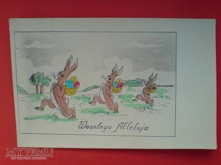 Wielkanoc Wesołego Alleluja pisanki i zajączki