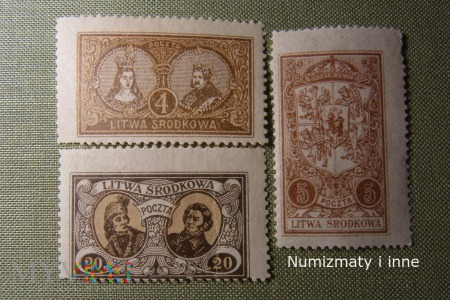 znaczki Litwy Środkowej