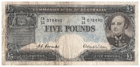 Australia - 5 funtów (1954)