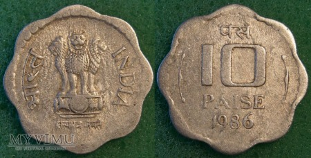 Indie, 10 Paise 1986