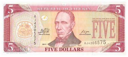 Liberia - 5 dolarów (2011)