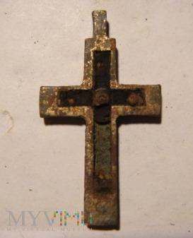 Krzyżyk metalowo drewniany