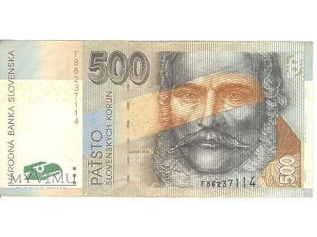 500 KORON SŁOWACKICH 2000 rok