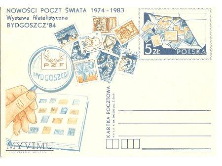NOWOŚCI POCZT ŚWIATA 1974-1983 BYDGOSZCZ 84