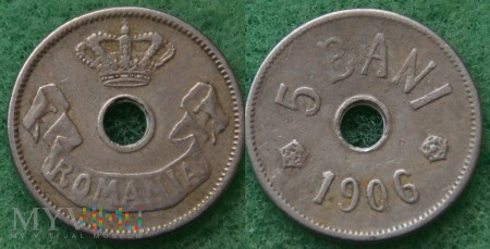 Rumunia, 1906, 5 bani