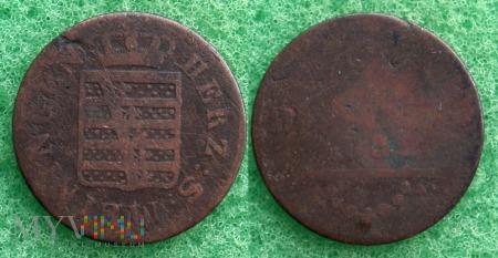 Niemcy, 1832, 2 PFENNIG