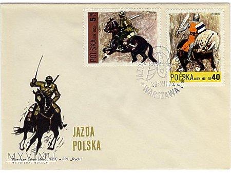 Ułani - koperta + znaczek z serii Jazda Polska
