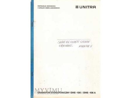 Instrukcja serwisowa gramofonu GWS-106/106A