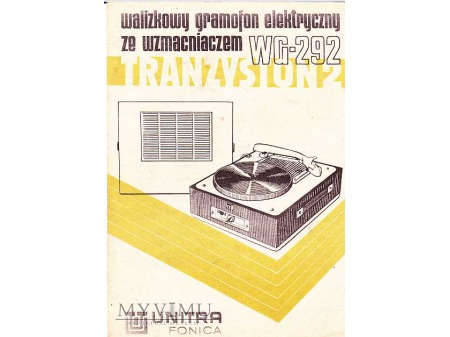 Instrukcja obsługi gramofonu TRANZYSTON WG-292