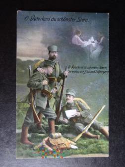 Kartka Pocztowa - z lat wojny