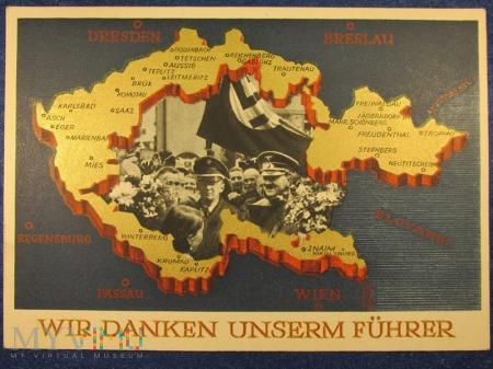 Karta propagandowa po Aneksji Czechosłowacji