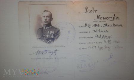 Legitymacja PZPN Piotr Noworyta