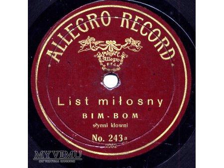 Allegro Record