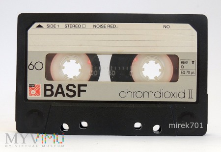 BASF chromdioxid II 60 inna naklejka na kasecie