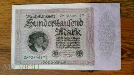 100,000 Mark 1923r.