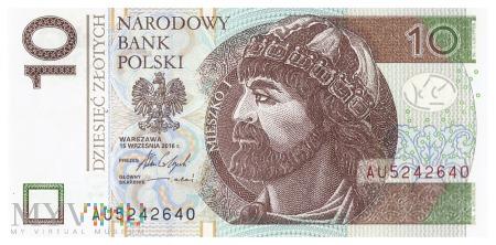 Polska - 10 złotych (2016)