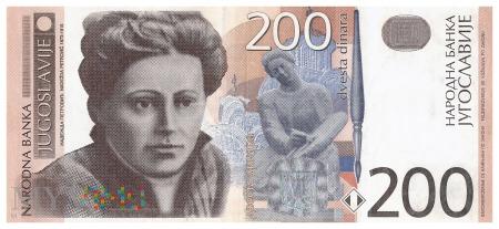 Jugosławia - 200 dinarów (2001)