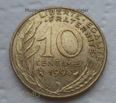 Francja - 10 centymów - 1998 rok
