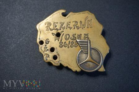 Odznaka Rezerwy Wiosna 86/88
