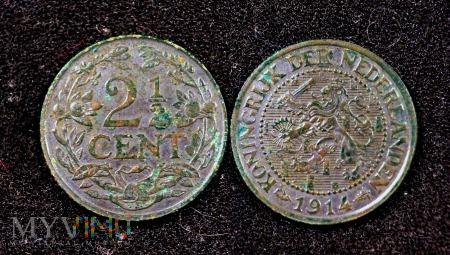 Holandia 2 1/2 cents 1914