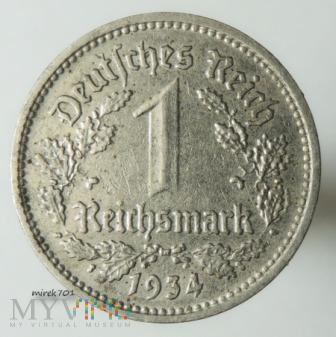 1 reichsmark 1934 E