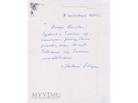List od Biskupa Antoniego Długosza