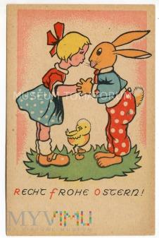 Wesołych Świąt Wielkanocnych - lata 40/50-te XX w.