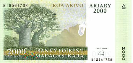 Duże zdjęcie Madagaskar - 2 000 ariary (2008)