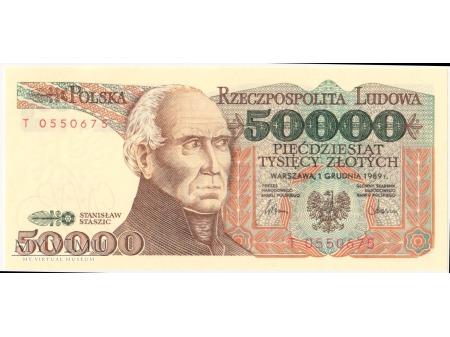 50000 złotych 1989 rok seria T