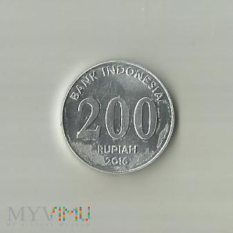 Indonezja 200 rupii, 2016