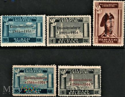 Polska 1954 - II Korpus Polski we Włoszech.