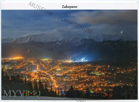 Duże zdjęcie Zakopane - Widok ogólny nocą - pocz. XXI w.