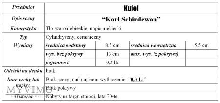 "Kufel ""Karl Schirdewan"""