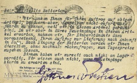 Gottner & Prestien Konigsberg 1920r.