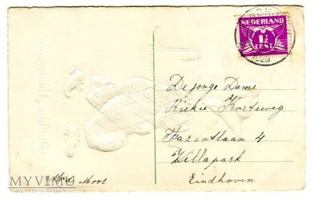 1910 Nowy Rok po holendersku pocztówka