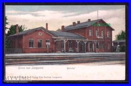 OLSZYNA Langenöls Dworzec kolejowy