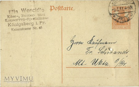 Ella Woscidlo Konigsberg 1917 r.