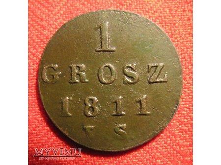 1 GROSZ KSIĘSTWO WARSZAWSKIE (1811 IS)