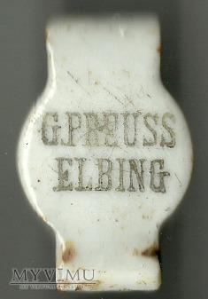 Butelka Elbing (Elbląg) - G. Preuss