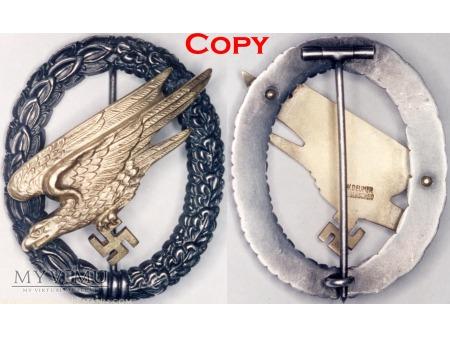 Duże zdjęcie Odznaka Spadochronowa Luftwaffe Paratrooper Badge