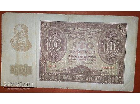 100 złotych z 1940 r.