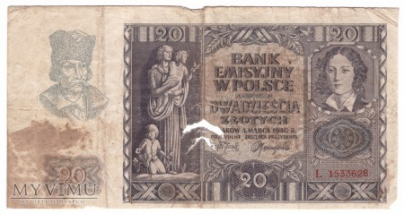 20 zł 1940r.