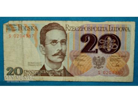 20 złotych 1982