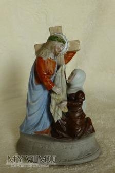 Duże zdjęcie św. Weronika ociera twarz Jezusowi nr 4781
