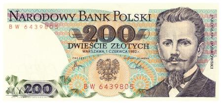 Duże zdjęcie Polska - 200 złotych (1982)