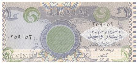 Irak - 1 dinar (1992)
