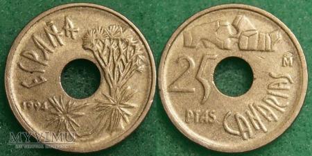 Hiszpania, 25 PESETAS 1994