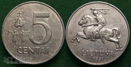 Litwa, 5 centai 1991