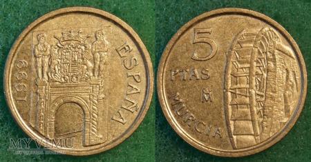 Hiszpania, 5 PTAS 1999